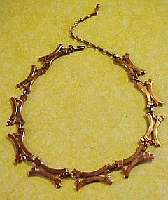 Renoir modernist copper necklace