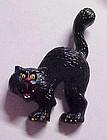 Russ scared Halloween cat pin plastic