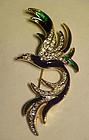 Enamel and rhinestone bird of paradise pin