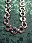 Modern stainless circle link necklace chain