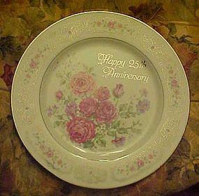 Beautiful Enesco 25th anniversary plate Betty Whiteaker