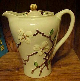 Vintage Orchard Ware dogwood coffee pot California