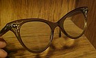 Vintage Ladies cat eye glasses cute