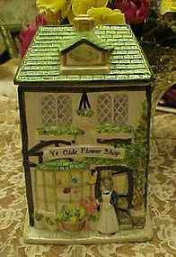 Ye Olde Flower Shop ceramic cookie jar