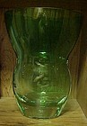 Mikasa large emerald green lead crystal vase 10.5""
