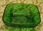 Anchor Hocking forest green charm dessert bowl