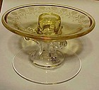 Fostoria  New Garland Topaz single candlestick #2433