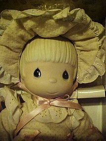 Precious Moments Kristy porcelain doll 1983 cross mark