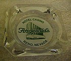 Vintage Fitzgerald's Hotel and Casino souvenir ashtray