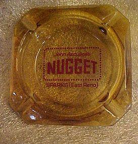 John Ascuaga's Nugget souvenir casino ashtray Sparks