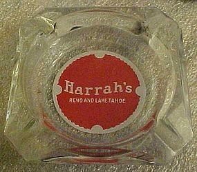 Harrah's Reno Lake Tahoe souvenir casino ashtray