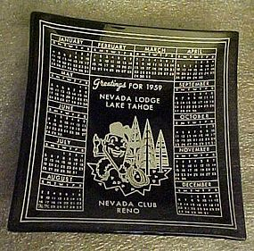 Nevada Club Lodge casino ashtray 1959 calendar