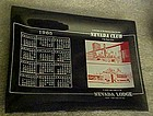 Nevada Club Lodge souvenir casino calendar ashtray