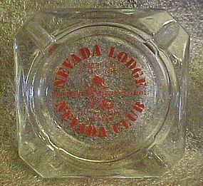 Nevada Club Lodge souvenir casino ashtray