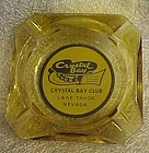 Vintage Crystal Bay Club souvenir casino ashtray 1950's