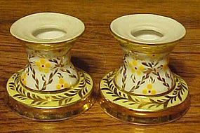 Dainty and elegant mini candle holders hand painted