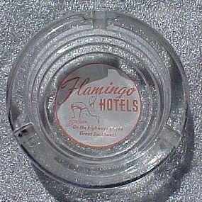 Vintage Flamingo Hotels souvenir advertising ashtray