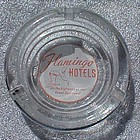 Vintage Flamingo Hotels souvenir advertising ashtray