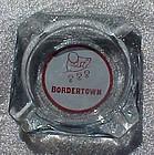 Vintage Bordertown casino souvenir  glass ashtray