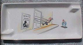 Vintage comic humor boxing ashtray