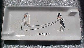 Vintage 50's comic humor marriage ashtray