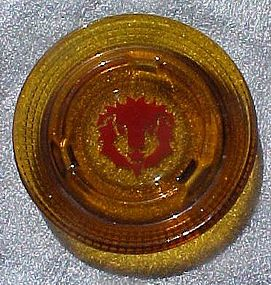 Vintage Red Lion Inn & casino glass  souvenir ashtray