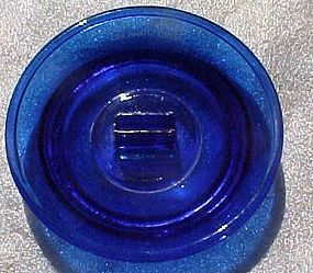 Vintage Hotel Gibson advertising ashtray cobalt blue