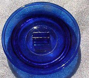 Vintage Hotel Gibson advertising ashtray cobalt blue