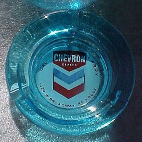 Vintage Chevron dealer ashtray gas & oil collectible