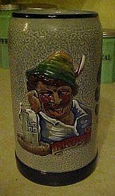 Wonderful  Original Lerchen salt glaze beer stein