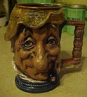Capodimonte Italy hand crafted toby style stein 1978