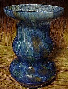 Hand blown blue Lavorazione Arte Murano vase