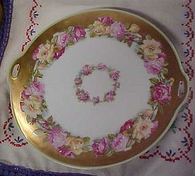 Vintage Prussia plate with roses border
