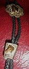 Sterling Silver overlay western horse bolo tie
