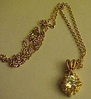 Sparkling faux diamond necklace and chain