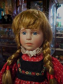 Rare 1988 porcelain doll for Tupperware German dressed