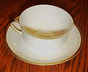 Nippon china #66 white with gold trim cup and saucer