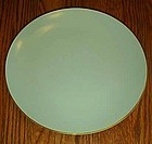Noritake china 621 lt green w/gold trim luncheon plate