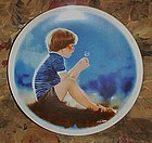 Erik and dandelion collector plate Zolan's Children