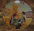 Thanksgiving, Americana Holidays plate by Don Spaulding