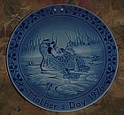 Marmot Mothers Day 1976 collectors plate ducks Germany