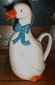 B&D Aunt Rhody blue goose quart ceramic pitcher