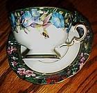 Lena Liu's violet crowned Hummingbird cup & saucer