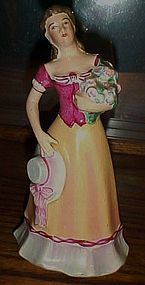 Vintage Jabeson lady with flowers figurine 1944