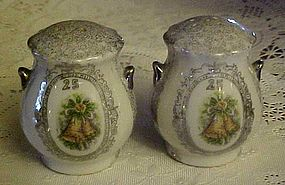 Enesco 25th Wedding Anniversary salt and Pepper shakers