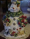 Home Interiors Winter treats Snowman lady cookie jar