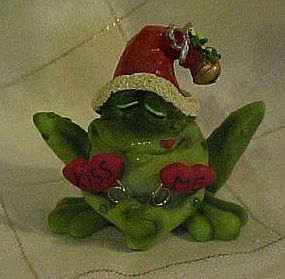 Russ Toadily Yours frog with mistletoe figurine MIB