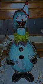 Vintage  blue spatter Murano clown decanter