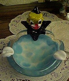 Vintage Murano Venetian art glass Clown ashtray