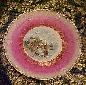 Large Antique Dutch scenic plate possibly Austria